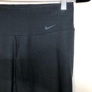 Nike yoga pants women's small black flare leg logo